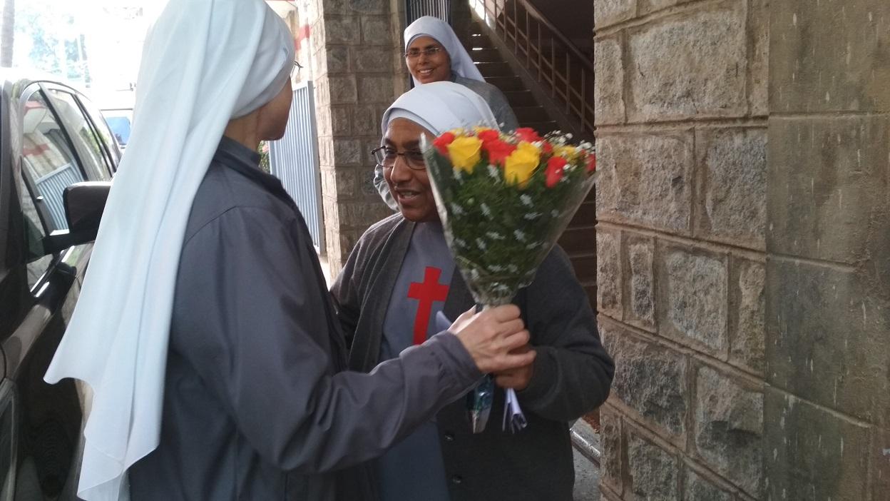Most. Rev.Mother General & Sr. Lancy at Bangalore