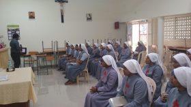 Spiritual renewal class for Jiniors at Provincialate